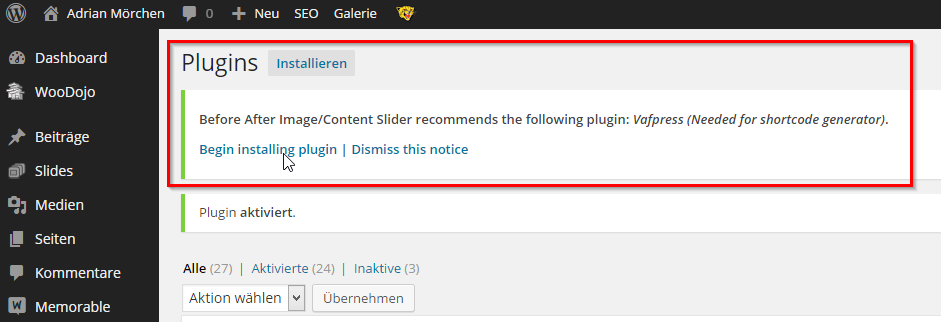 2014-11-30 13_22_20-Plugins ‹ Adrian Mörchen — WordPress - Opera