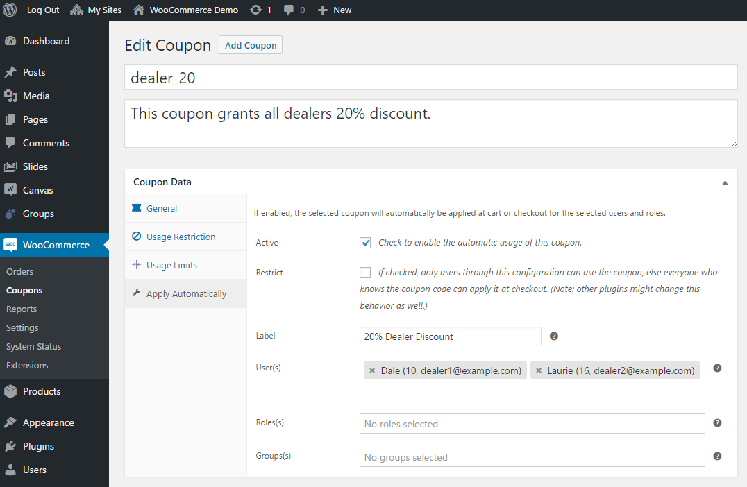 WooCommerce Apply Coupons Automatically 2
