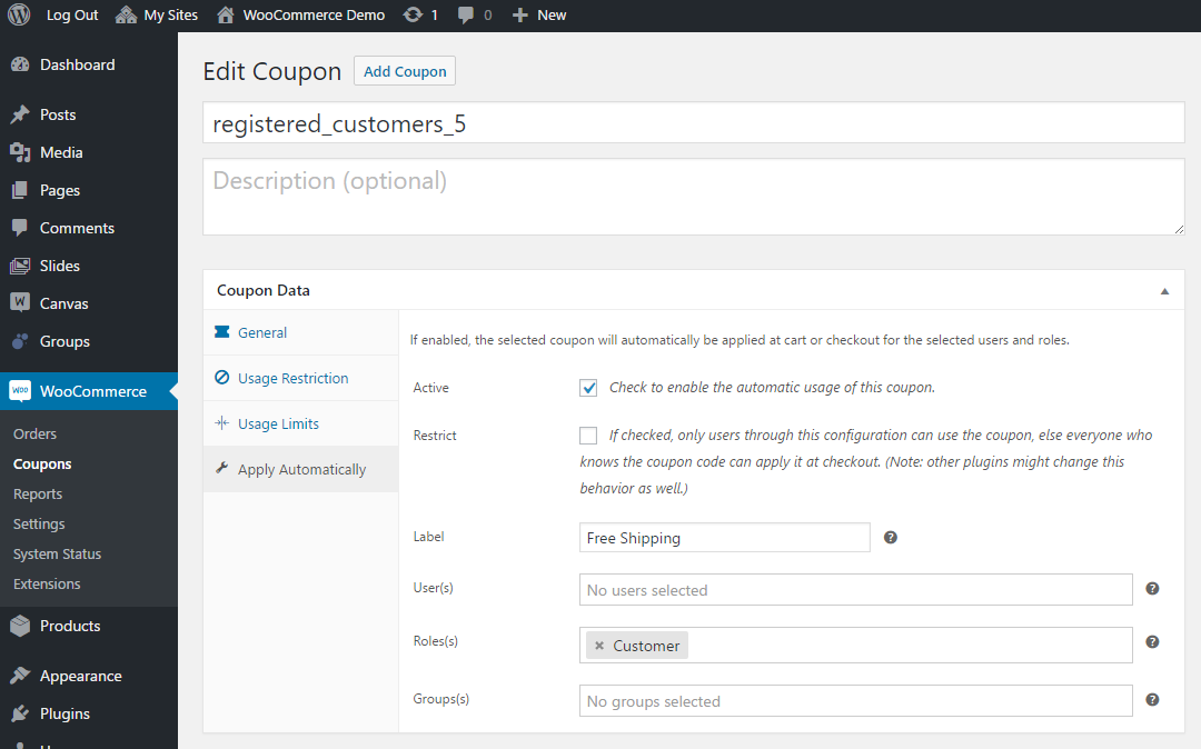 WooCommerce Apply Coupons Automatically 3